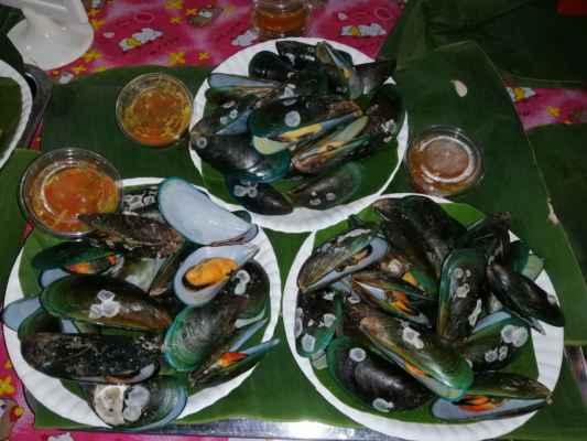 Mořské plody.