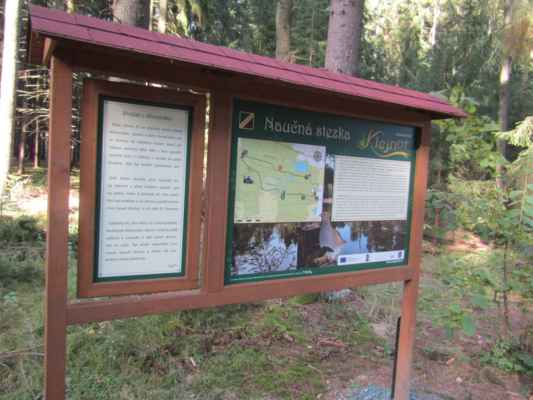 zastavení šesté - informace o Vražedném rybníku - zavražděni tady byly jenom kachny lovci ze zámku Zelená Hora