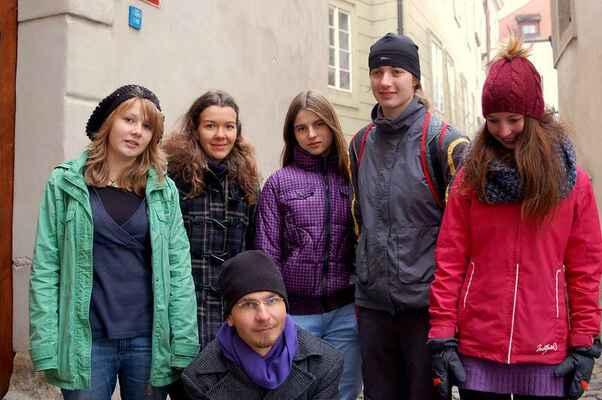 Letos moje skupinka, se kterou jsme prošli Prahu.