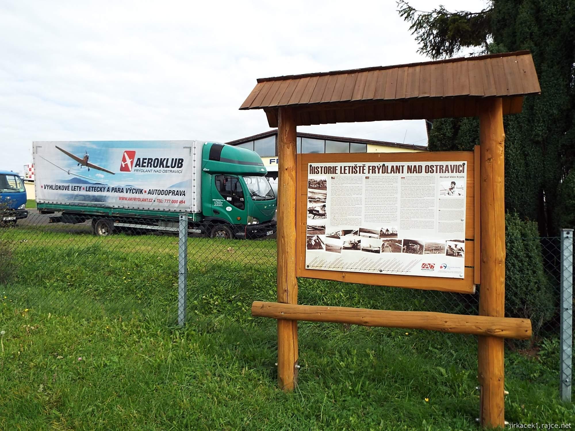 Frýdlant nad Ostravicí - letiště - informační tabule